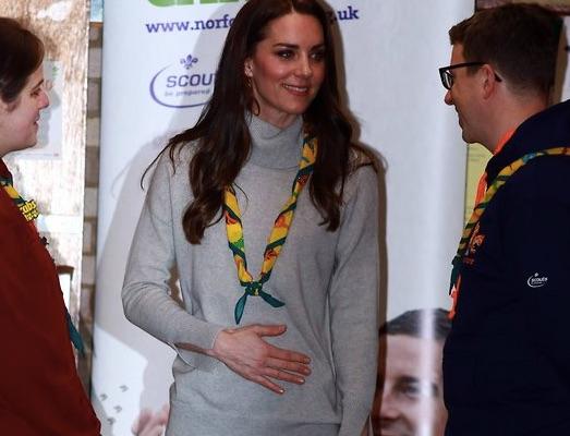 Кейт Миддлтон спровоцировала разговоры о беременности