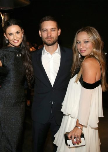 Tobey Maguire dumped demi Moore young