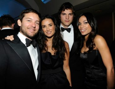 Demi Moore once again got together with Toby Maguire