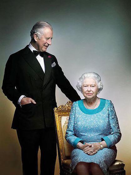 Опубликован новый портрет Елизаветы II и принца Чарльза