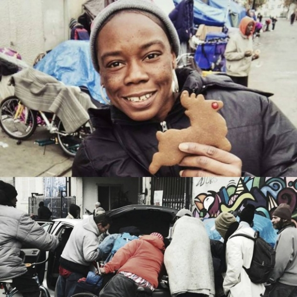 Семья Кардашьян-Дженнер накормили бездомных
