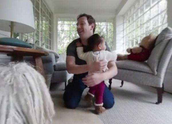 Марк Цукерберг показал первые шаги дочери Макс в панорамном видео