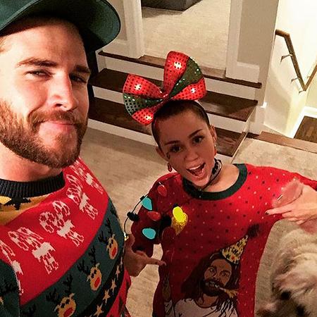 Майли Сайрус отпраздновала Рождество с семьей Лиама Хемсворта
