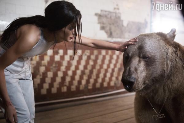 Елена Темникова приручила медведя