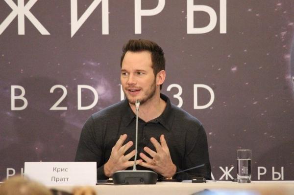 Крис Пратт признался в любви к Москве и водке