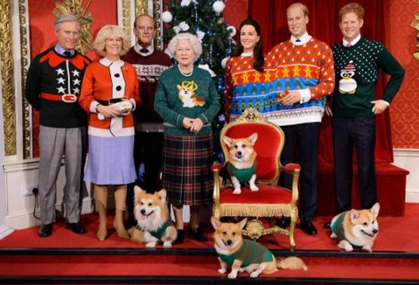Королевскую семью в музее мадам Тюссо одели в свитеры