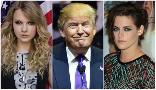 Как Тейлор Свифт и Кристен Стюарт пострадали из-за Дональда Трампа