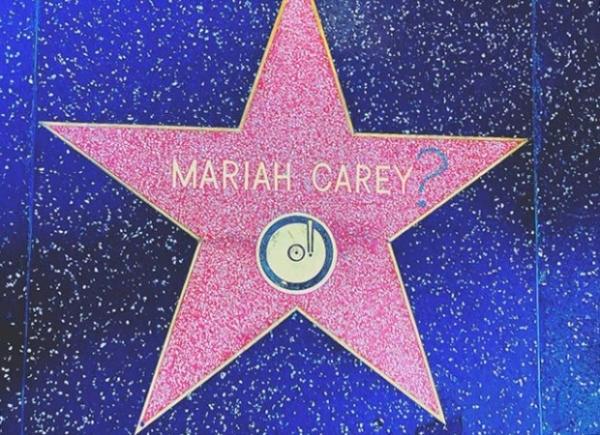 Именная звезда Мэрайи Кери была испорчена вандалами