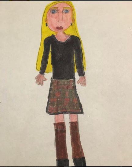 Аманда Сейфрид опубликовала детский автопортрет