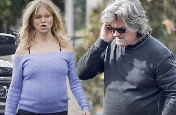 Голди Хоун и Курт Рассел публично поскандалили