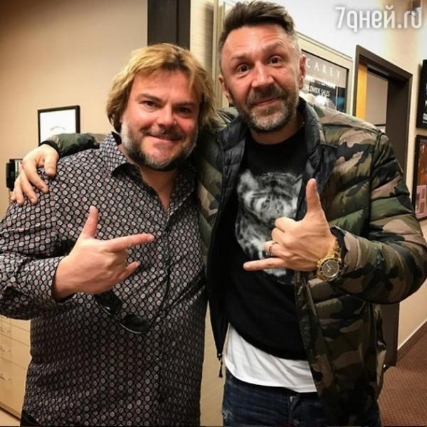 Сергей Шнуров подружился со звездой Голливуда