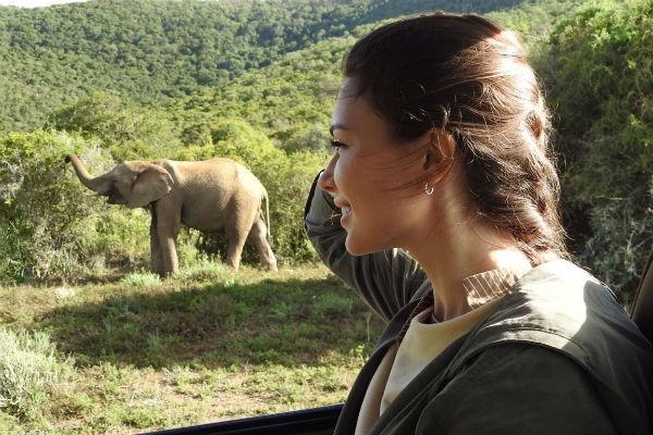 Телеведущая Ольга Ушакова ищет острых ощущений в Африке