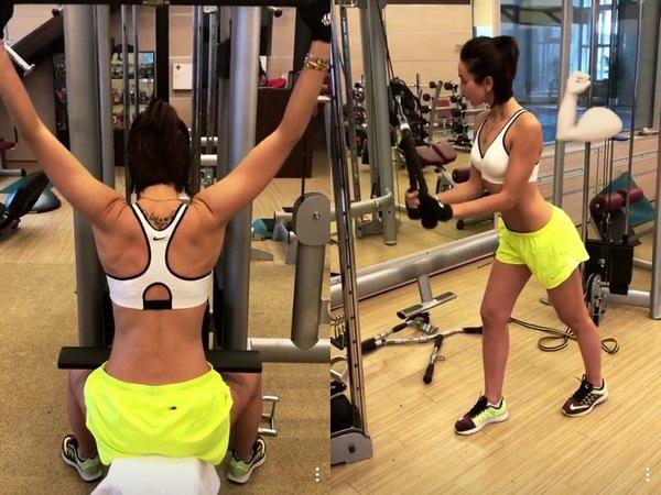 Ольга Бузова показала сексапильную фигуру в спортзале