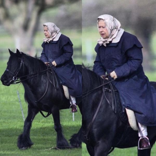 Елизавета II пренебрегает правилами безопасности из-за прически