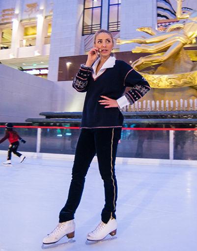 Татьяна Навка дала бесплатный урок фигурного катания