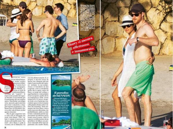 Принц Гарри и Меган Маркл показали страсть на пляже