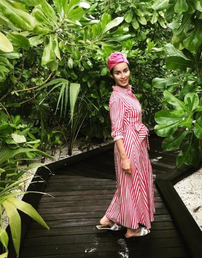 Тина Канделаки расслабляется на райском острове