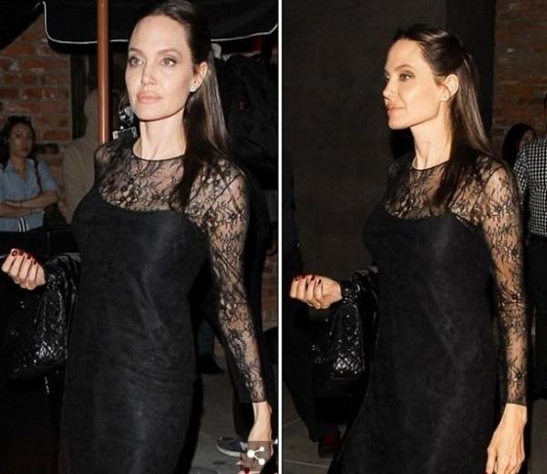 """Анджелина Джоли в """"День Матери"""" выглядела жутко истощенной"""