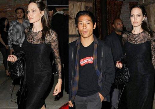 Анджелина Джоли провела День матери с сыном Пэксом