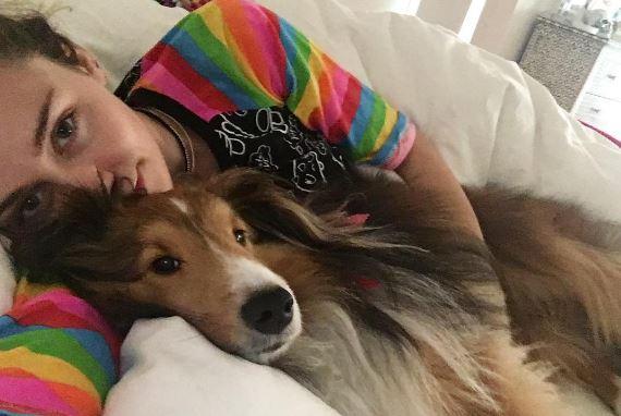 Майли Сайрус сделала тату, посвящённое своему псу