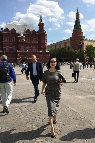 Дита фон Тиз пришла в восторг от посещения Москвы