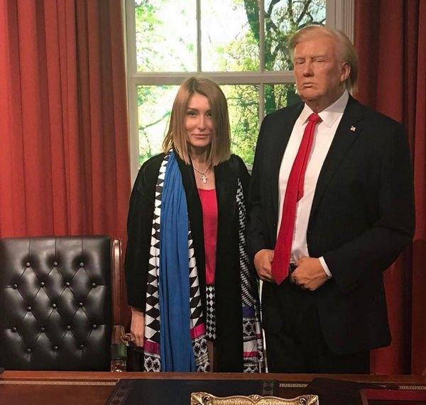 Жену Гарика Мартиросяна перепутали с Меланией Трамп