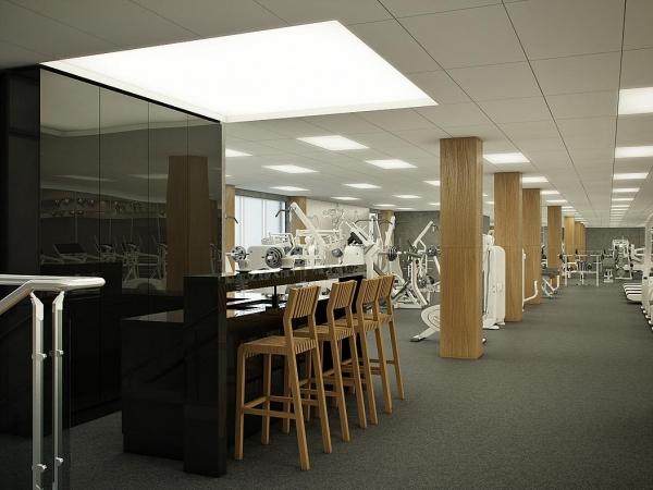 Как должен выглядеть современный фитнес-центр? Смотрите проект Business &Fitness