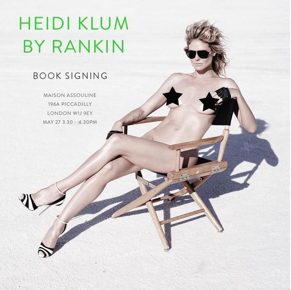 Хайди Клум полностью обнажилась в новой фотосессии