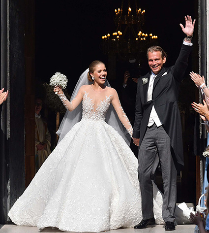 Блестящая свадьба: Виктория Сваровски вышла замуж в платье весом 46 килограммов и стоимостью миллион долларов