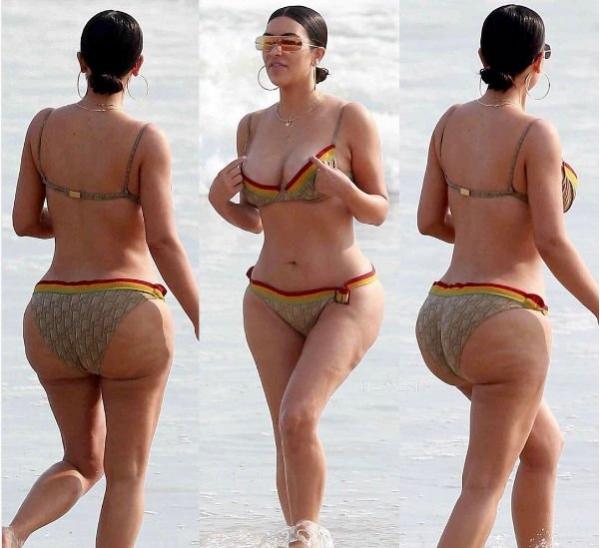 Ким Кардашьян уверяет, что целлюлит ей на фотографиях просто нарисовали