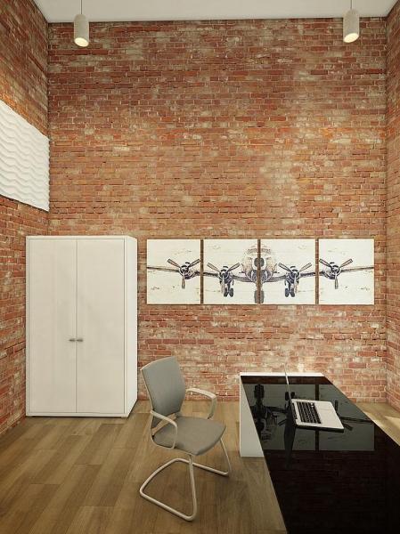 Дизайн-проект студии встиле лофт