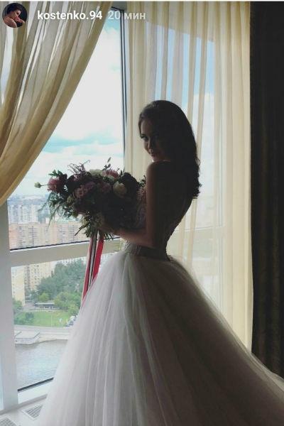 Анастасия Костенко примерила свадебное платье