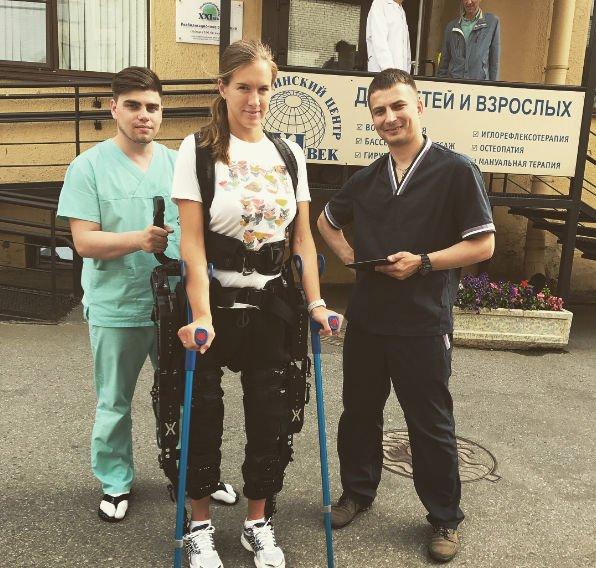 Повредившая позвоночник Мария Комиссарова намерена снова научиться ходить