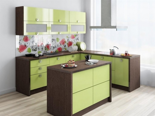 Недорогой исовременный дизайн интерьера для кухни
