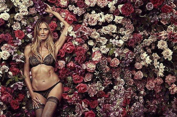 Хайди Клум поразила своей фигурой в рекламе нижнего белья