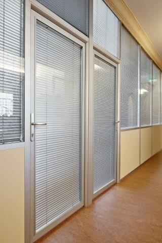 Профильные двери. Новые технологии: встраиваемые петли, жалюзи идругие возможности. Обзор стеклянных дверей