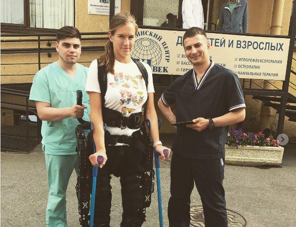 Сломавшая позвоночник Мария Комиссарова расстроилась, узнав результаты обследования