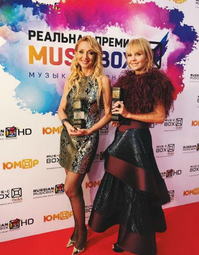 Ольга Бузова и Анна Грачевская появились на премии в похожих прозрачных нарядах