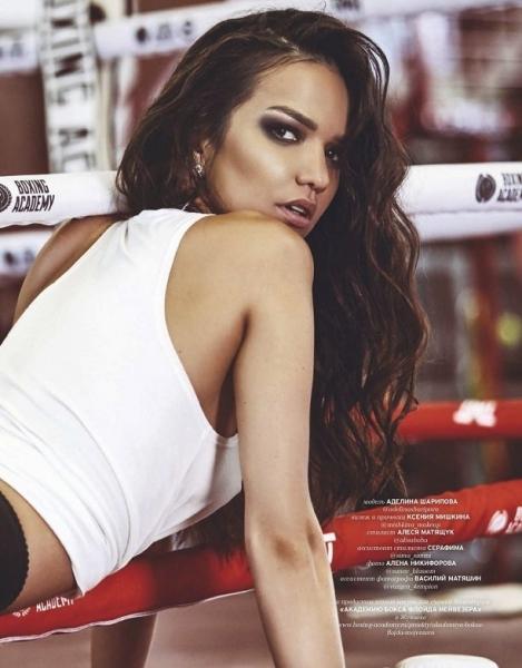 Аделина Шарипова на обложке Playboy Russia: бьет -  значит любит!