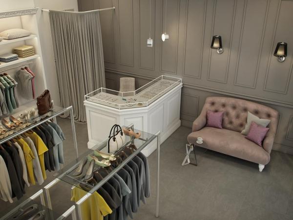 Классика истатус: дизайн-проект бутика наРублёвке