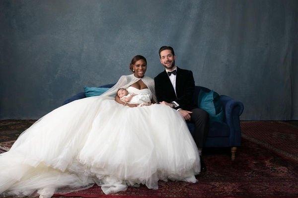 Серена Уильямс похвасталась роскошными фотографиями со свадьбы