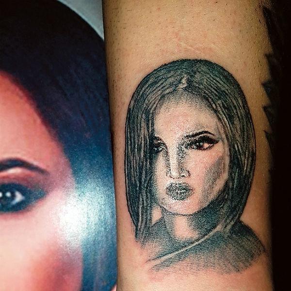 Фанат Ольги Бузовой вынужден переделать тату с ее портретом
