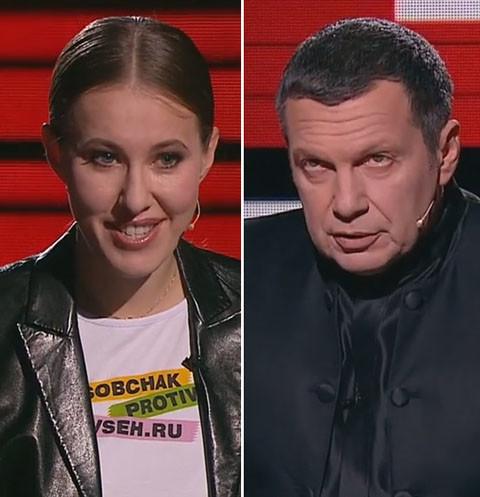 Владимир Соловьев жестко отчитал Ксению Собчак