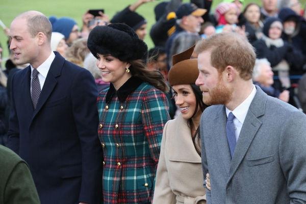 Беременная Кейт Миддлтон впервые вышла в свет с невестой принца Гарри