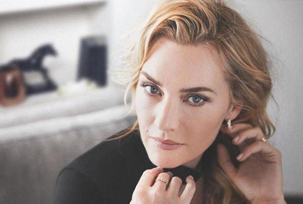 Кейт Уинслет произвела фурор выходом в свет без макияжа