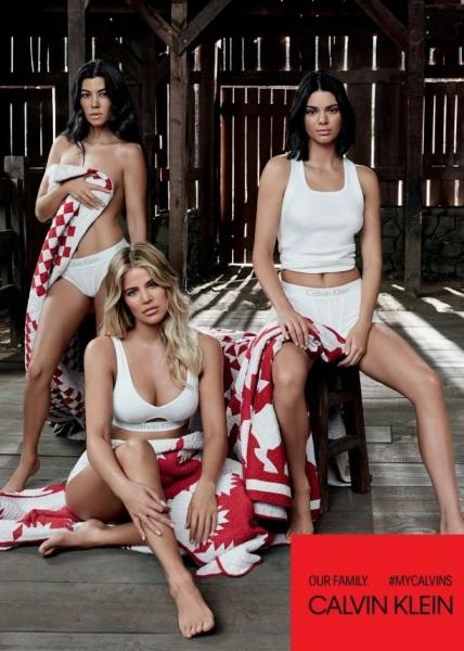 Представительницы клана Кардашьян представила сексуальную фотосессию для Calvin Klein