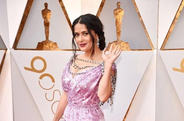 Сальма Хайек появилась на «Оскаре-2018» в украшениях за $4 миллиона