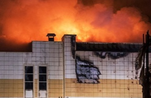 Россияне скорбят по погибшим при пожаре в ТЦ Кемерово