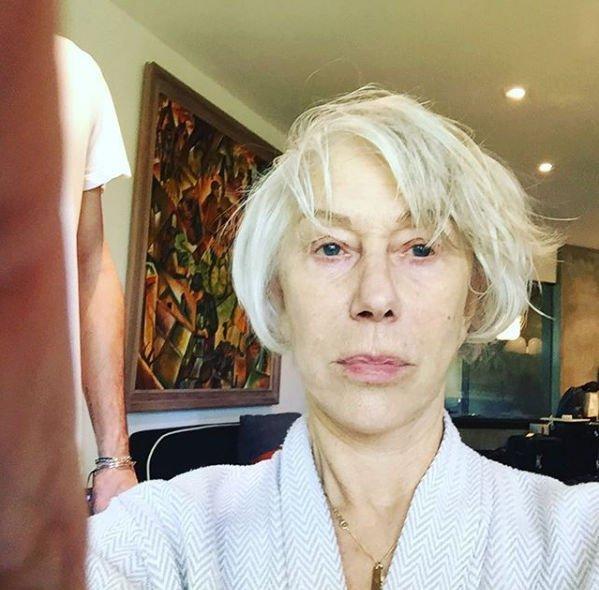 Хелен Миррен без макияжа предстала в естественном виде