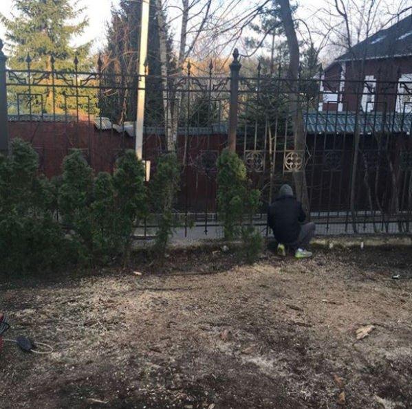 Участок Максима Галкина требует ремонта после урагана